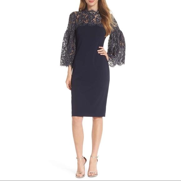 [Eliza J] lace yoke sheath dress